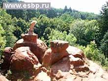 г.Кисловодск. Курортный парк. Красные камни